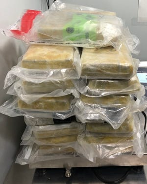 U.S. Customs and Border Protection seized than 80 pounds of suspected cocaine and fentanyl at the Blue Water Bridge Friday.