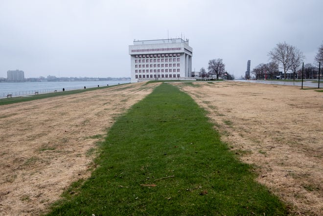 Due to a contractor using incorrect doses of nitrogen and herbicide, large patches of dead grass have appeared in many of the city's parks. Soil samples are being taken in order to make proper repairs and restore the grass.