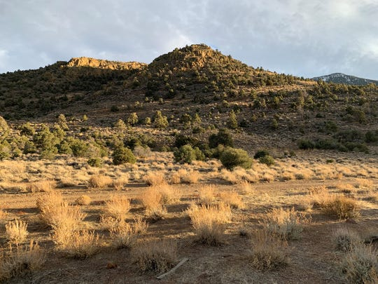 One of the sites in the Pine Nut Mountains that could be affected by a mining project in the southeast end of Dayton Valley.
