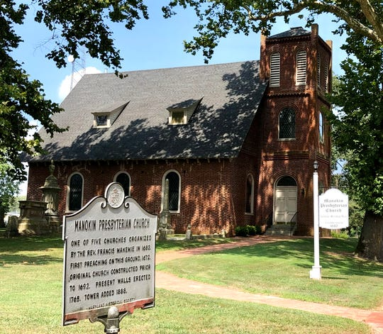 Manokin Presbyterian Church, first organized in 1672 in Princess Anne, Maryland, currently has about 30 members.