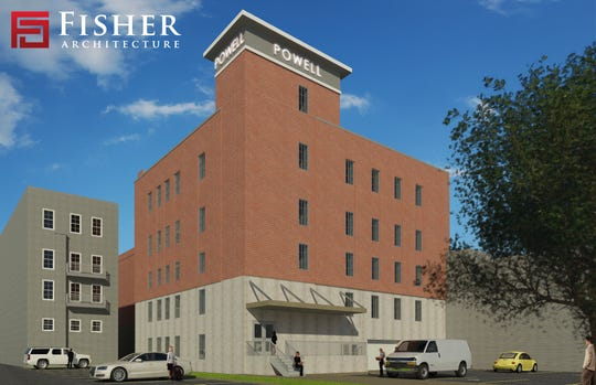 Latest renderings of the renovated Powell Building in downtown Salisbury, Maryland, as of April 16, 2020. The new apartment building is set to take shape by the end of summer or early fall of this year.