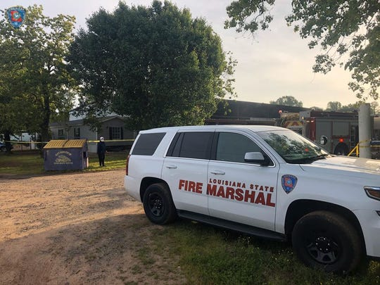 The State Fire Marshal's Office is on the scene of a fire investigation in Benton involving one death on Frdiay, April 17, 2020.