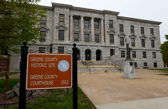 The Greene County Historic Courthouse on Friday.