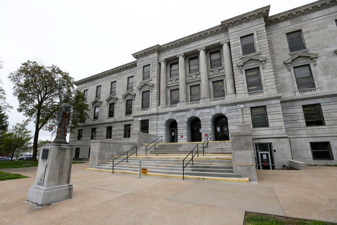 The Greene County Historic Courthouse on Friday, April 17, 2020.