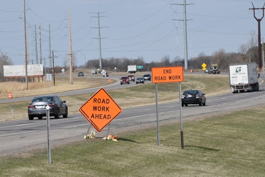 Construction signs are posted on Highway 23 Friday, April 17, 2020, in St. Cloud.