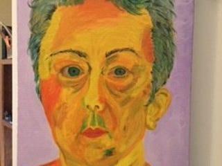 Channeling Van Gogh, Self Portrait by Pam Doffek.