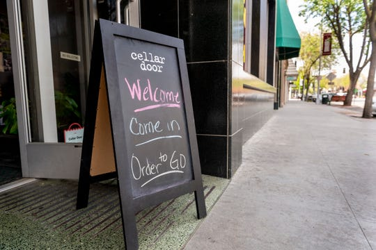 Cellar Door is among many restaurants in Downtown Visalia offering food to go.