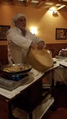 Chef Emilio Delija of La Catena in Ardsley at a March 4 cooking class.