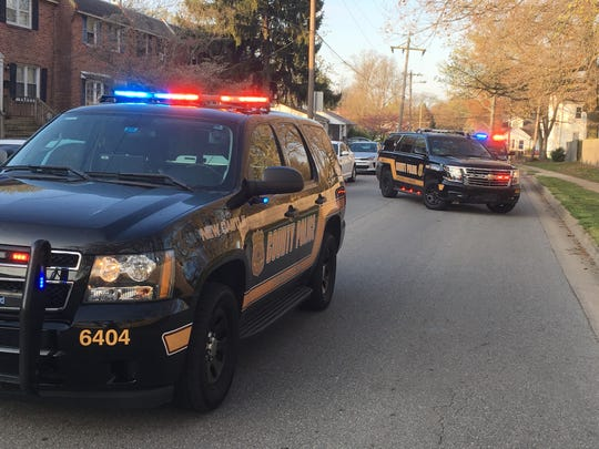 New Castle County Police are investigating a shooting in Claymont that senttwo people to the hospital Friday morning.
