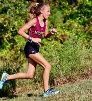 Eighth-grader Faith Mitchell ran 6 miles as part of a 96-mile virtual relay completed by the Milford High School girls and boys cross country teams to salute health-care workers, first responders and government officials.
