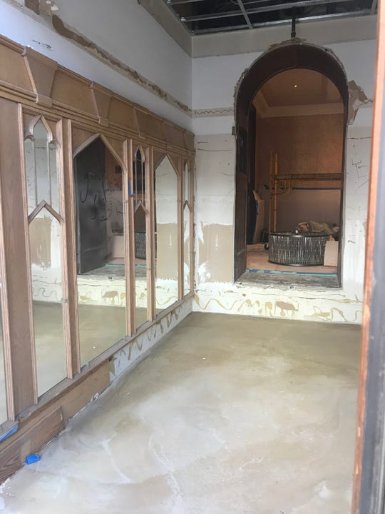 Construction was ongoing in March at the Hotel du Pont's former Green Room. The Wilmington restaurant is being revamped as Le Cavalier at the Green Room.