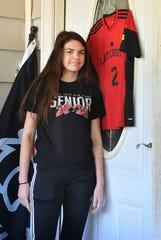 Wichita Falls High School senior Sheridan Bumgardner plays defense for the Lady Coyotes soccer team.