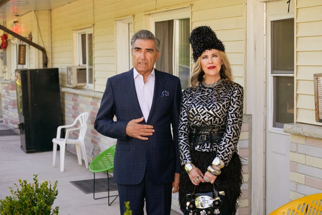 "Eugene Levy and Catherine O'Hara in awards darling ""Schitt's Creek."""