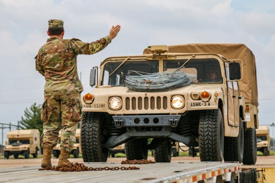 Soldiers assigned to the 501st Medical Company deployed to Joint Base McGuire-Dix-Lakehurst in response to COVID-19, April 18.