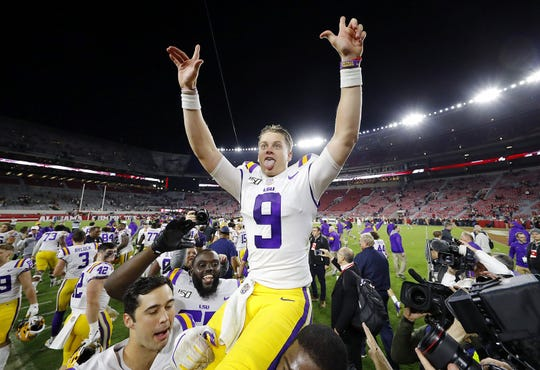 LSU quarterback Joe Burrow is expected to be selected first overall by the Cincinnati Bengals in the 2020 NFL Draft. Burrow is one of 58 prospects who will have a camera in their home for the draft.