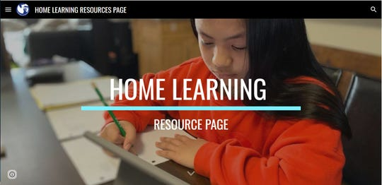 The Guam Department of Education's Home Learning Resource page