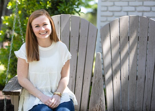 Lilly Russell, a 21-year-old student at Baylor University, talks about her experience after she tested positive for COVID-19 in Memphis, Tenn., on Saturday, April 18, 2020. Russell has fully recovered and plans to donate her plasma.