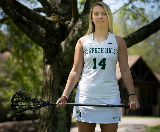 Harpeth Hall lacrosse player Leelee Denton lost her senior season of lacrosse because high school spring sports were canceled because of the coronavirus COVID-19 outbreak. photographed  Saturday, April 18, 2020 in Nashville, Tenn.
