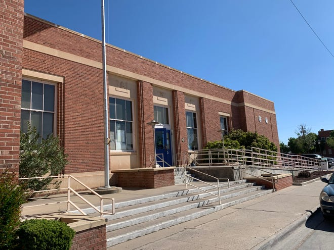 The Deming, New Mexico post office located at 201 W. Spruce Street, seen on Saturday, April 18, 2020.