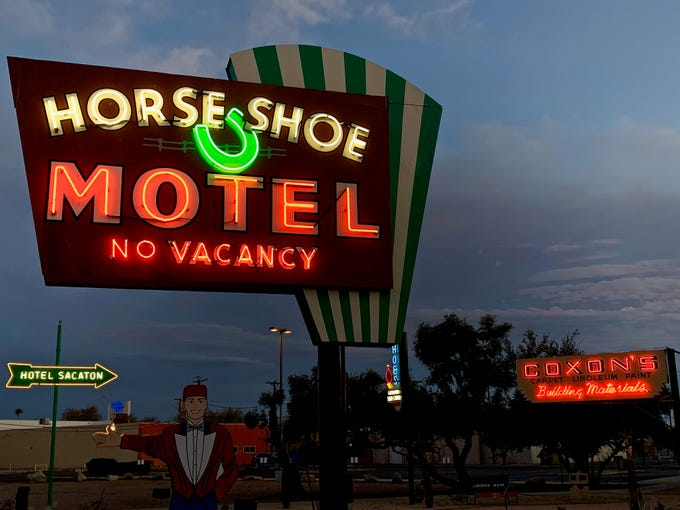 Classic neon floods Casa Grande with light and color and memories each night.