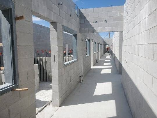 The rough interior of the new animal shelter.