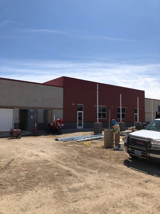 The new Fernley senior center is being built adjacent to the Fernley Depot.