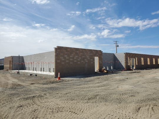 Walls are going up at the new Lyon County Animal Services building in Silver Springs.