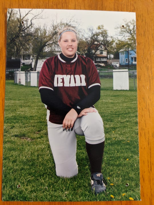 Brandi Balschmiter during her days as a pitcher at Newark