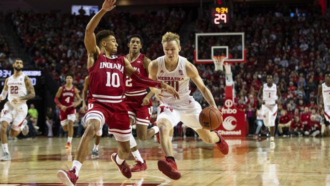 Charlie Easley (30) played in 28 games for Nebraska this year and will transfer to South Dakota State