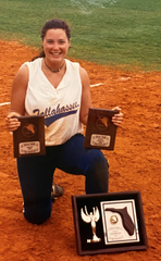 Jen Bega McLemore was a two-time softball All-American at Tallahassee Community College in 1993 and 1994.