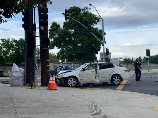 Visalia police are investigating a DUI collision at Houston Avenue and Lovers Lane.