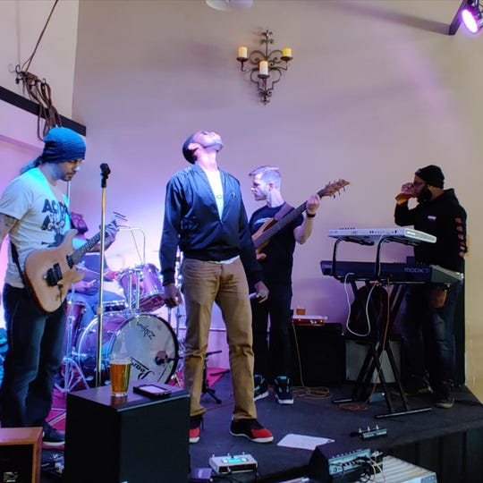 Philadelphia rock act XPRESIDENTS performs at Hangman Brewing Co.'s opening weekend last month in Claymont.