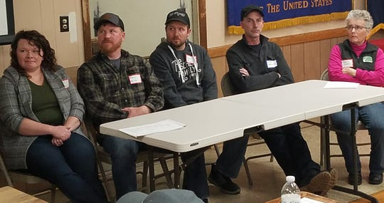 Beth and Mark Heinze, Andy Fischer, James Baerwald and Barb Salas shared their ideas about direct marketing during a grazing conference in Portage last month.  With the recent restrictions the families have had to adjust their deliveries but the demand is still there for their products.