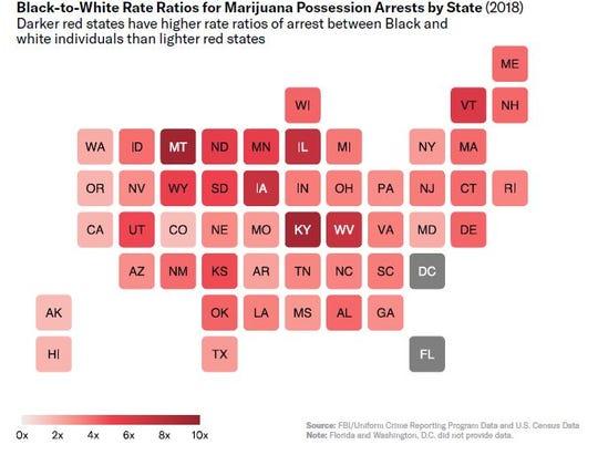 Iowa ranks fifth-worst state in racial disparities for marijuana arrests, ACLU finds