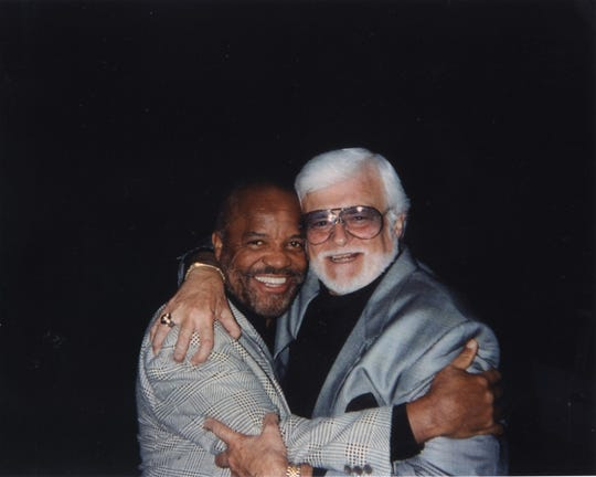 Barney Ales (right) with Motown Records founder and chairman Berry Gordy Jr.