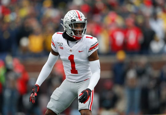 Ohio State cornerback Jeff Okudah would fill an immediate need for the Lions, who could trade back a few spots and still select him.