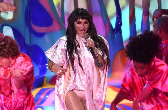 """Kesha was one of the performers who took part in a six-hour streaming event """"One World: Together at Home."""""""