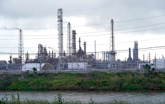 The Motiva refinery, the largest oil refinery in North America, is shown Monday, March 23, 2020, in Port Arthur, Texas