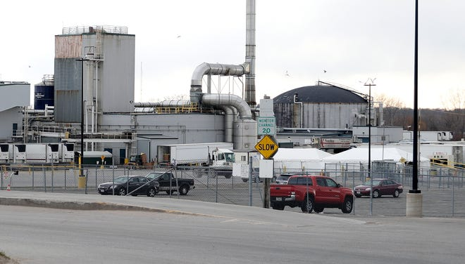 The JBS beef plant is pictured on April 17, 2020, in Green Bay.