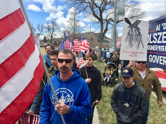 A vigil was held Sunday in Helena to ask the governor to relax rules on COVID-19 in Montana.