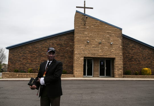 John Caleb Maddox of Nelson County came to the Maryville Baptist Church to worship while wearing a hat that read 'Trump. Keep America Great!' A federal judge Saturday night denied Maryville Baptist Church's motion for a restraining order blocking enforcement of Gov. Andy Beshear's order barring faith-based mass gatherings. April 19, 2020