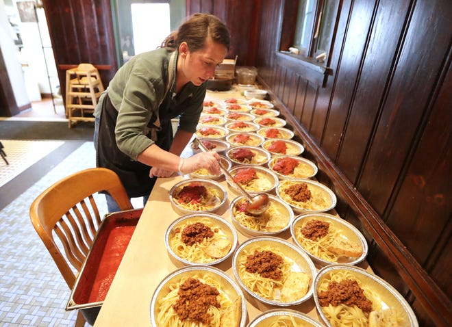 Chef Caitlin Cullen, who operates the Tandem at 1848 W. Fond du Lac Ave., began preparing free community meals in March and since then has given away 15,000. Donations of cash and ingredients continue to flow in, and 45 restaurants now help prepare the takeout meals for those in need.