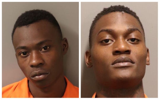 Jacques Demonte Simmons, left, and Rodrequis Juawon Managan are accused of murder after Brian Daniels, 17, was fatally shot on East Woodland Drive on April 18, 2020.
