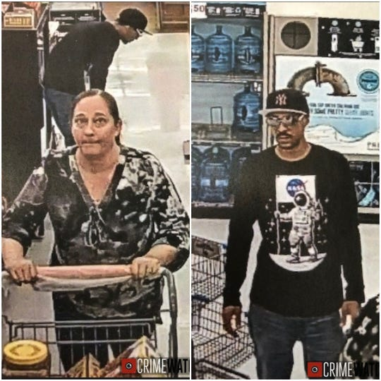 West Manchester Township Police are asking for help in identifying this couple in connection with a theft at the Walmart.