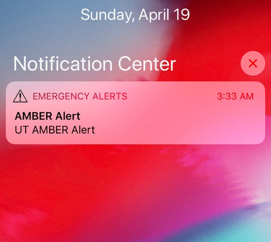The AMBER Alert sent at 3:33 a.m. Sunday that was missing information.