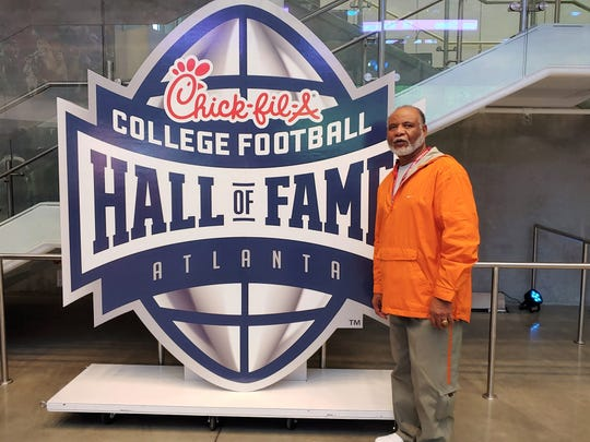 Amos Hill at the College Football Hall of Fame in Atlanta.