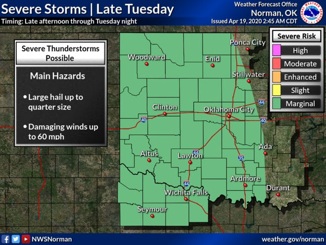 A cold front could bring severe weather to North Texas Tuesday and Wednesday.
