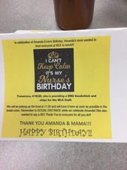 Daddy Bob's Smoke Wagon helped to provide lunch for Amanda Ervin's, nurse at Community Healthcare Center, birthday on April 14. Her mother Christine Brockman wanted to honor her daughter and include her co-workers that were working during the COVID-19 pandemic.
