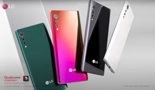 Also available in other colors.  LG offers its Velvet smartphone in 2008