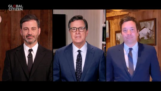 Jimmy Kimmel, Stephen Colbert and Jimmy Fallon are all trying their hands at late-night TV filmed at home.